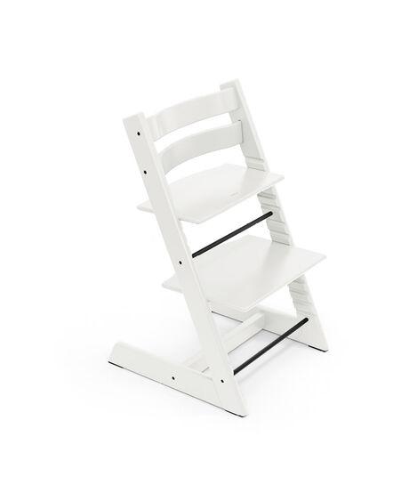 Tripp Trapp® HC Cpl White w Icon Grey Cushion & Tray, White, Icon Grey Cushion + Tray, mainview view 4