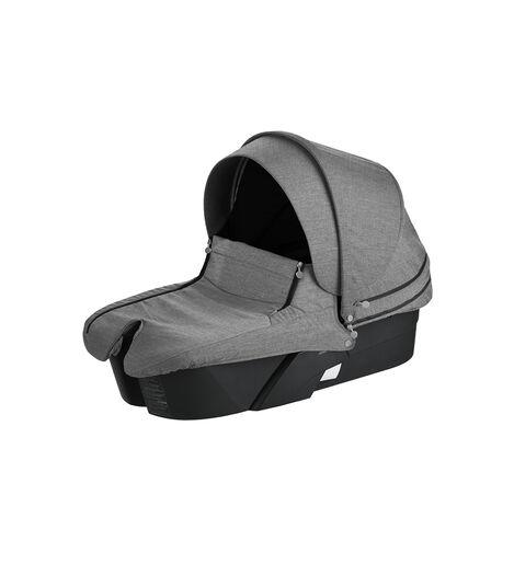 Stokke® Xplory® Carry Cot Black with Black Melange Textile Set.