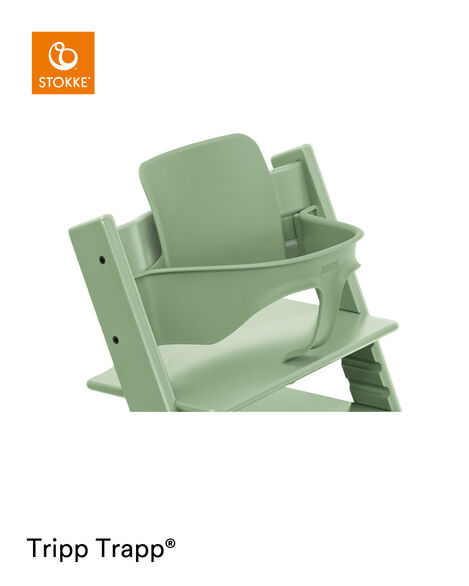 Tripp Trapp® Chair Moss Green with Baby Set. Close-up. view 5