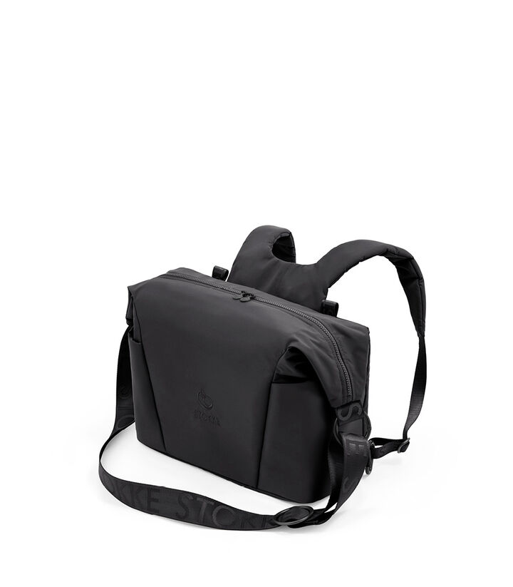 Stokke® Xplory® X Changing bag Rich Black, Negro Sólido, mainview view 1