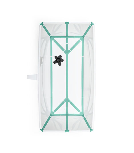 Stokke® Flexi Bath® bath tub, White Aqua. Open.