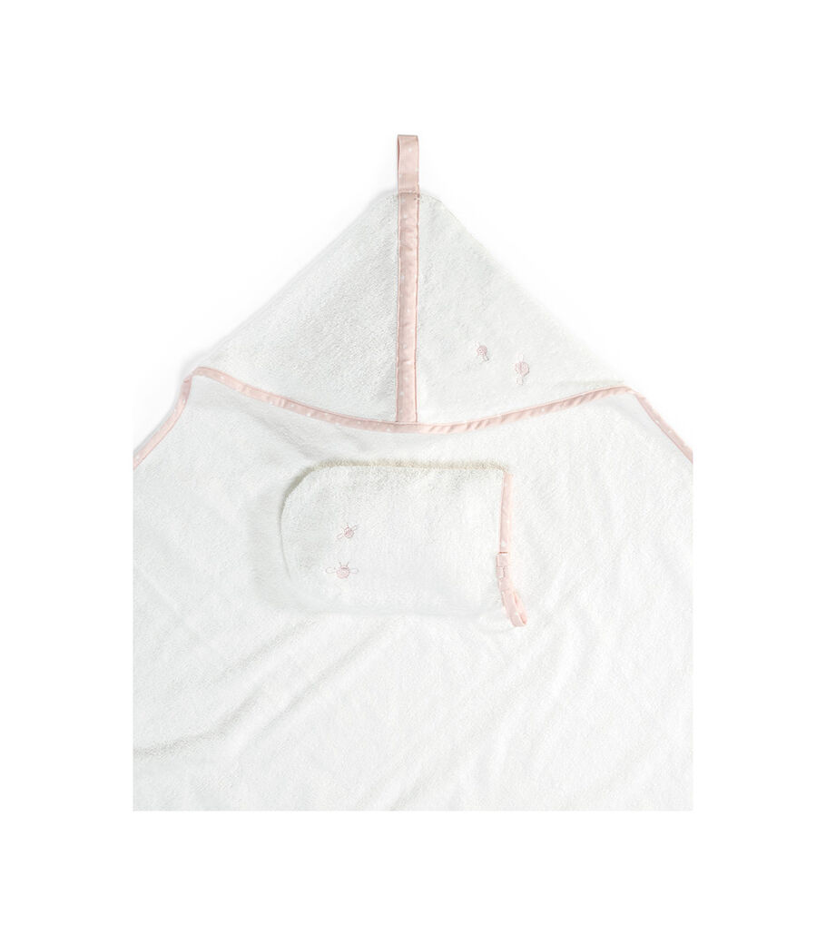 Stokke® Hooded Towel Pink Bee. view 4