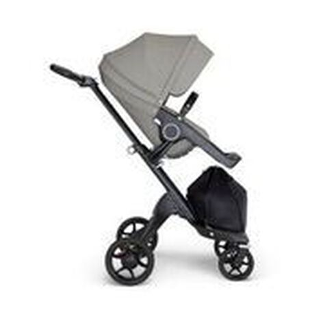 Stokke® Xplory® 6 Black Chassis - Black Handle Brushed Grey, Brushed Grey, mainview