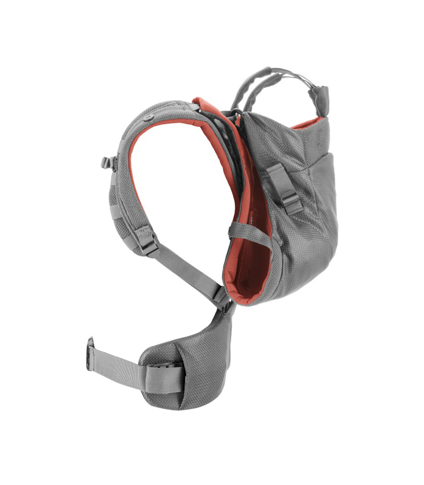 Stokke® MyCarrier™ Back Carrier Coral Mesh. Profile.