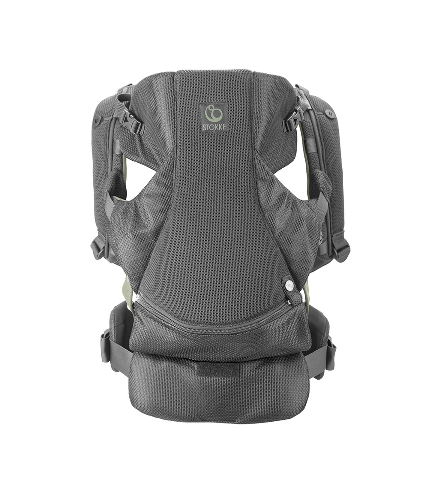 Stokke® MyCarrier™ Bæresele front Green Mesh, Green Mesh, mainview view 2