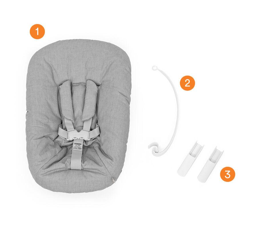 Tripp Trapp® Newborn Set Grey, , WhatsIncl view 1