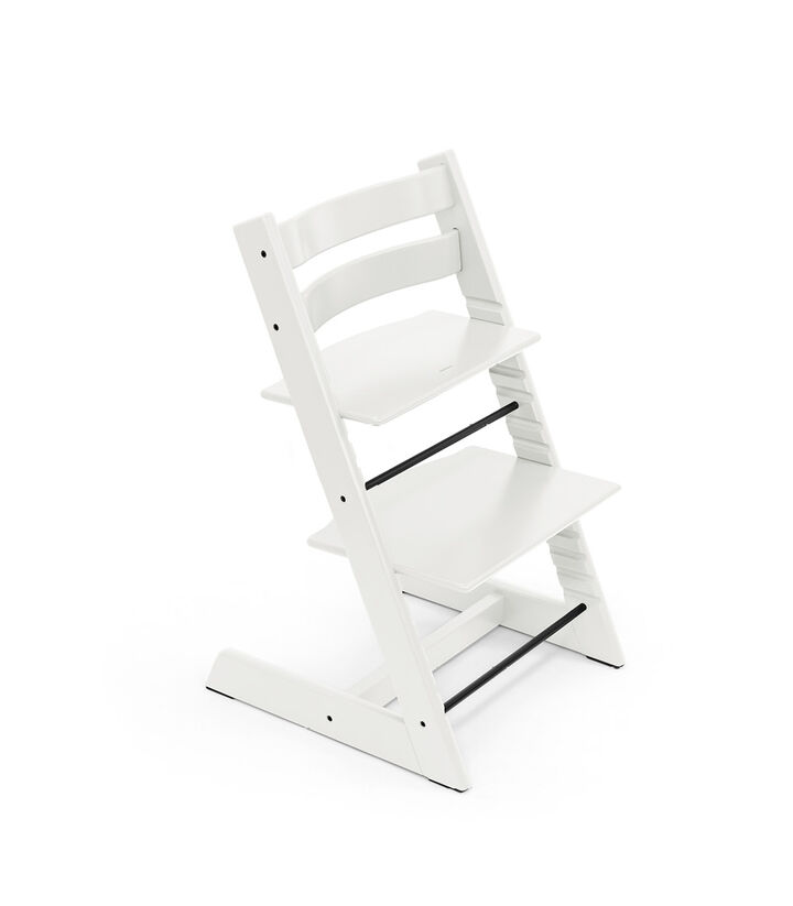 Tripp Trapp® chair White, Beech Wood. view 1