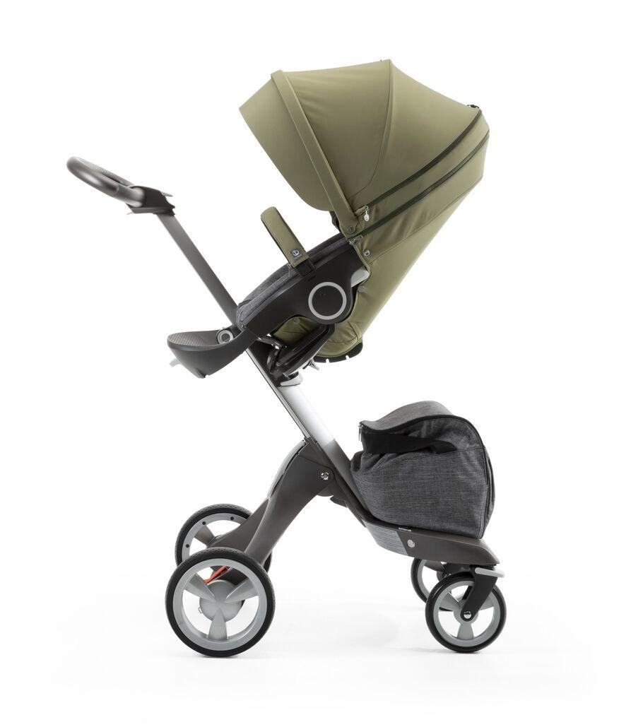 Stokke® Xplory® with Stokke® Stroller Seat Style Kit Olive.