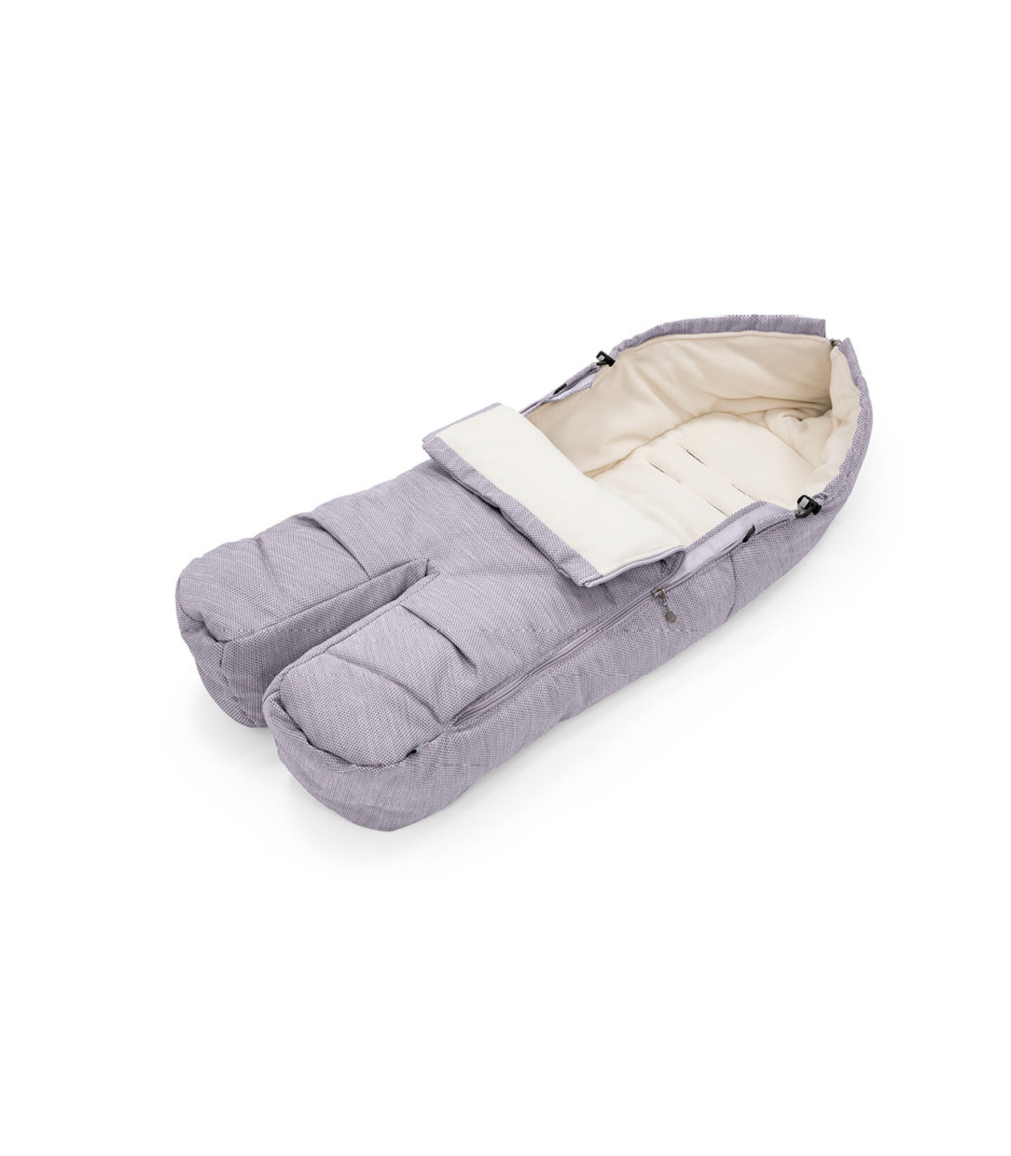 Stokke® Foot Muff Brushed Lilac, Lilla Spazzolato, mainview view 1