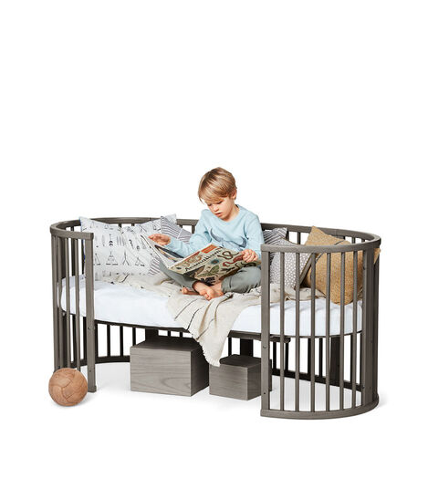 Stokke® Sleepi™ Junior Extension Hazy Grey, Hazy Grey, mainview view 3