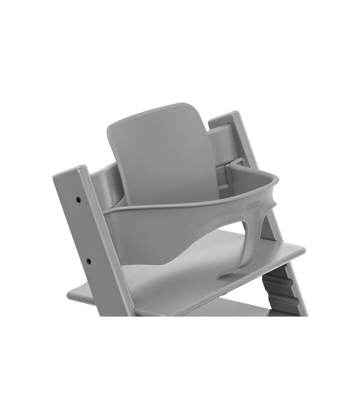 Tripp Trapp® Chair Storm Grey with Baby Set. Close-up. view 1