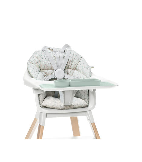ezpz™ by Stokke™ placemat for Clikk™ Tray Green, Soft Grey, mainview view 4