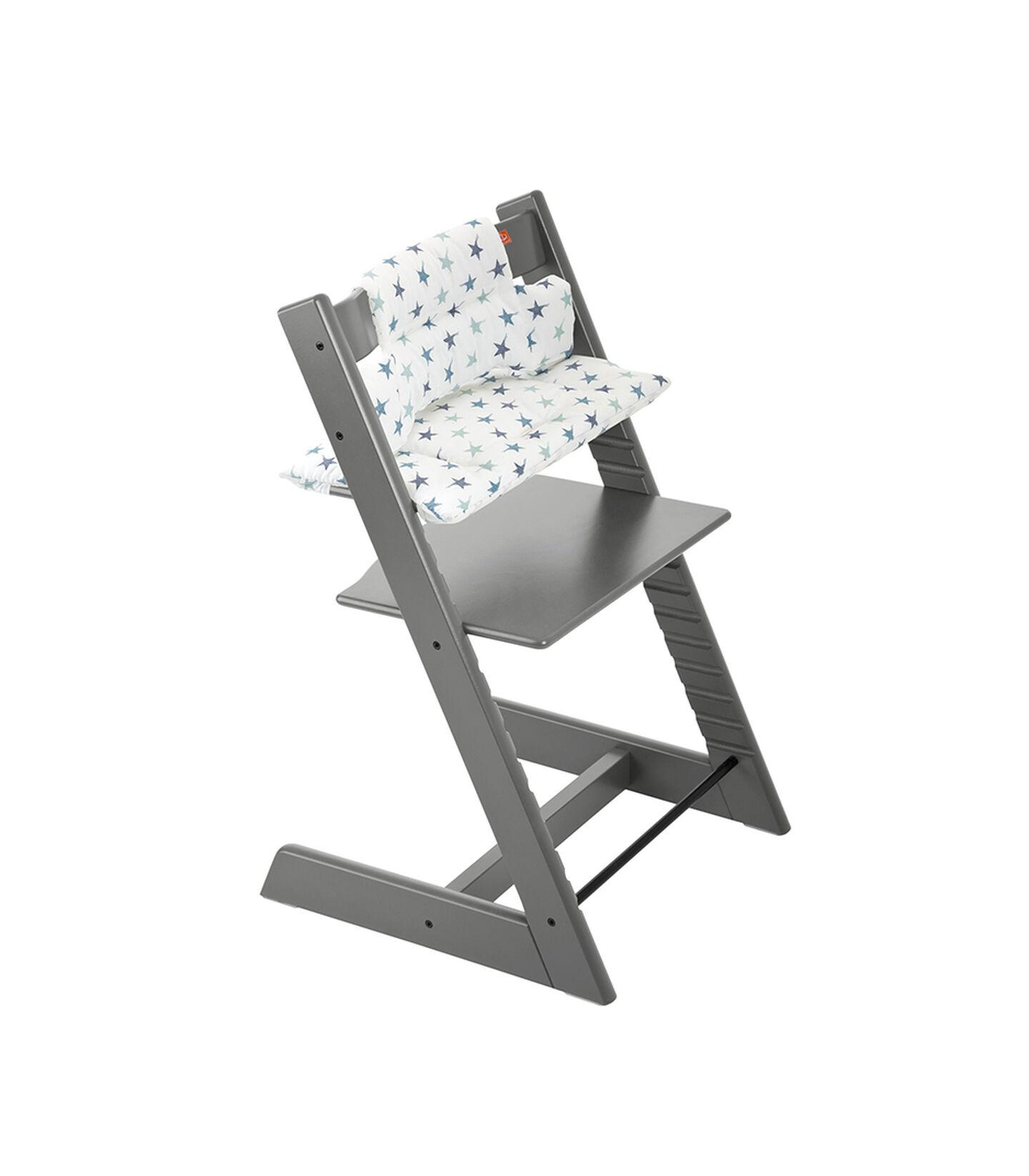 Tripp Trapp® Storm Grey with Grey Loom cushion