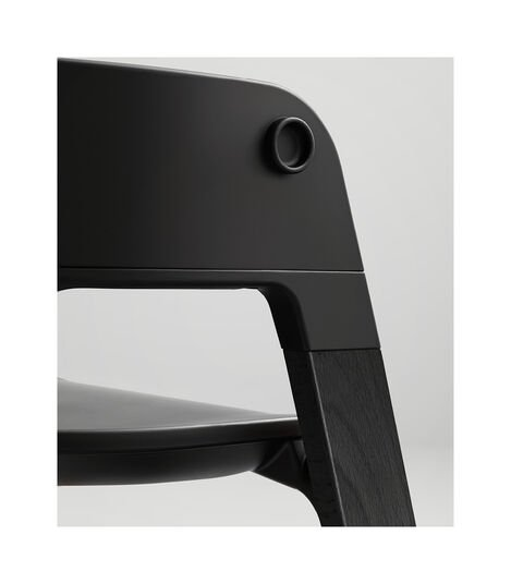 Stokke® Steps™ Highchair. Beech Black and Black seat. Detail. view 8