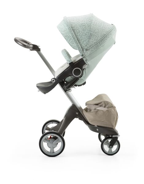 Stokke® Xplory® with Stokke® Stroller Summer Kit Scribble Salty Blue.