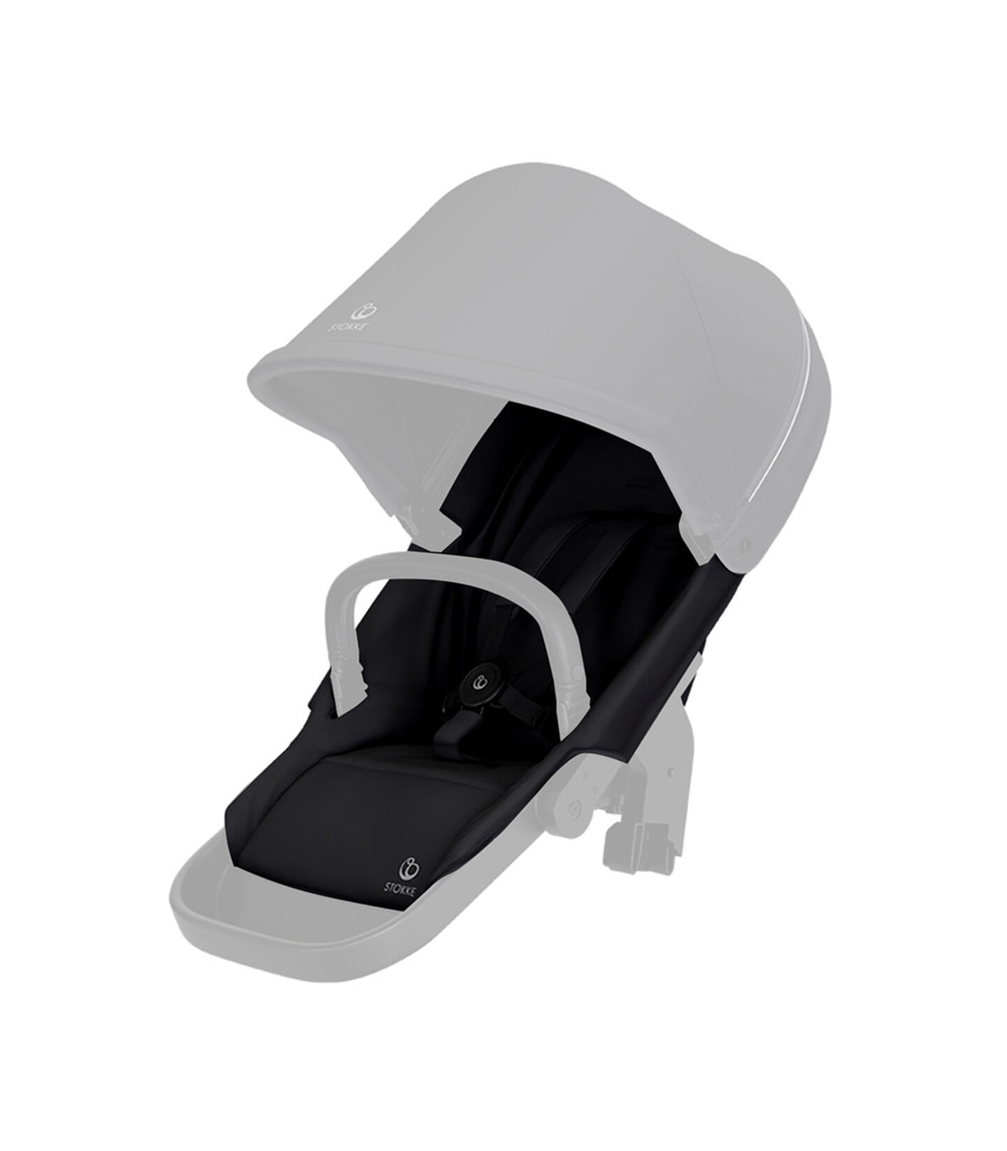 Stokke® Beat seat textile BlackMel wo Can Harness Shpg Baske, Noir mélange, mainview view 2