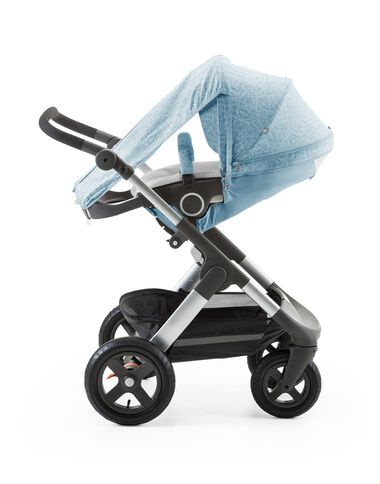 Stokke® Trailz™ with Stokke® Stroller seat and  Scribble Bluebell Blue Summer Kit