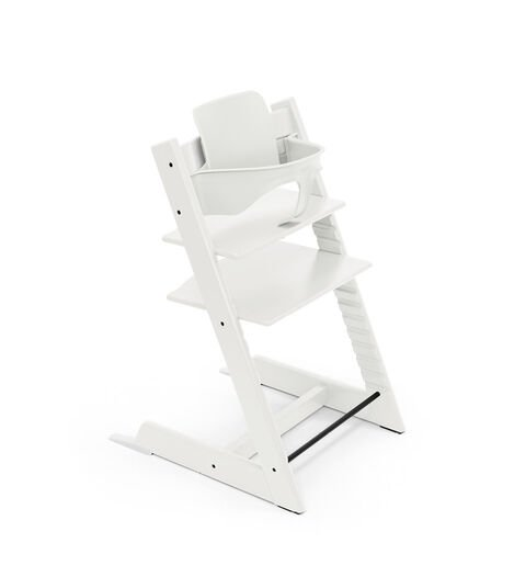 Tripp Trapp® chair White, with Baby Set. view 4
