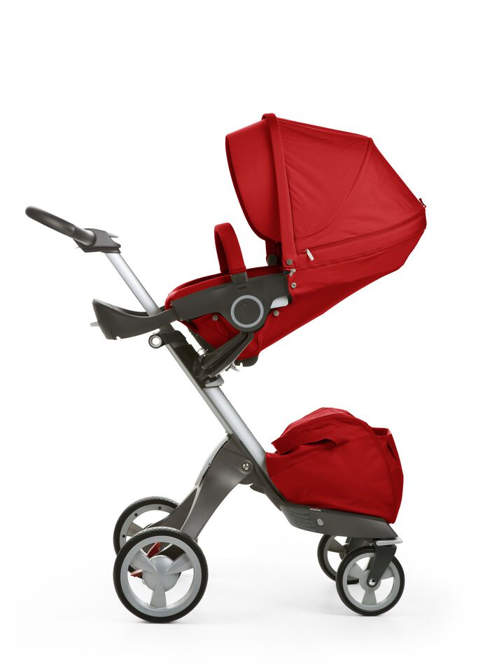 Stokke® Xplory® with Stokke® Stroller Seat, Red.