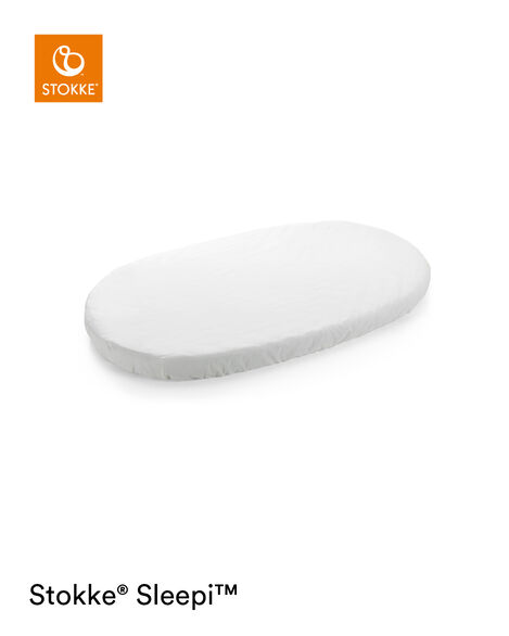 Stokke® Sleepi™ Fitted Sheet Blanc, Blanc, mainview view 5