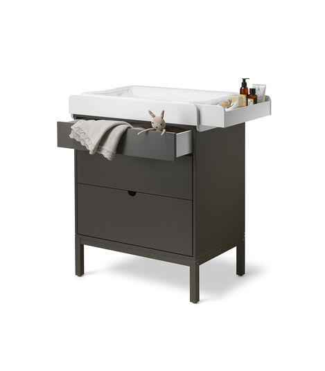 Stokke® Home™ Dresser, Hazy Grey. With Changer. view 5