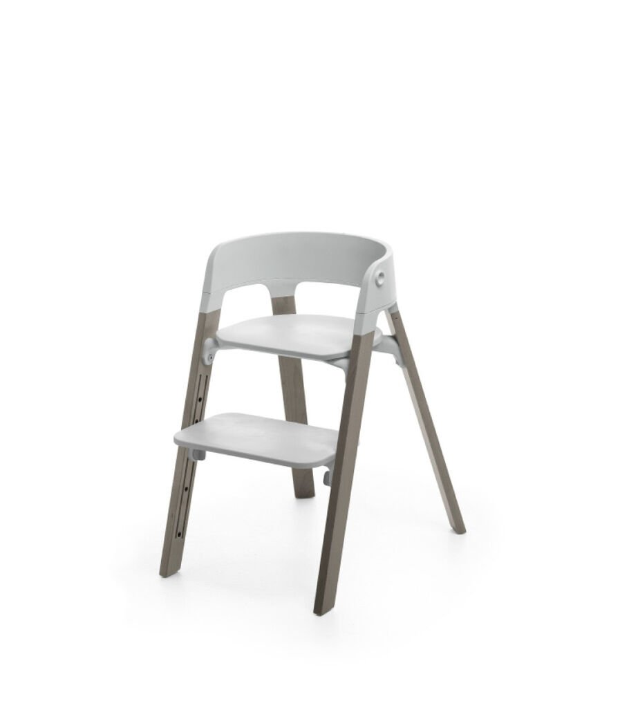 Stokke® Steps™ Hazy Grey with Light Grey seat.