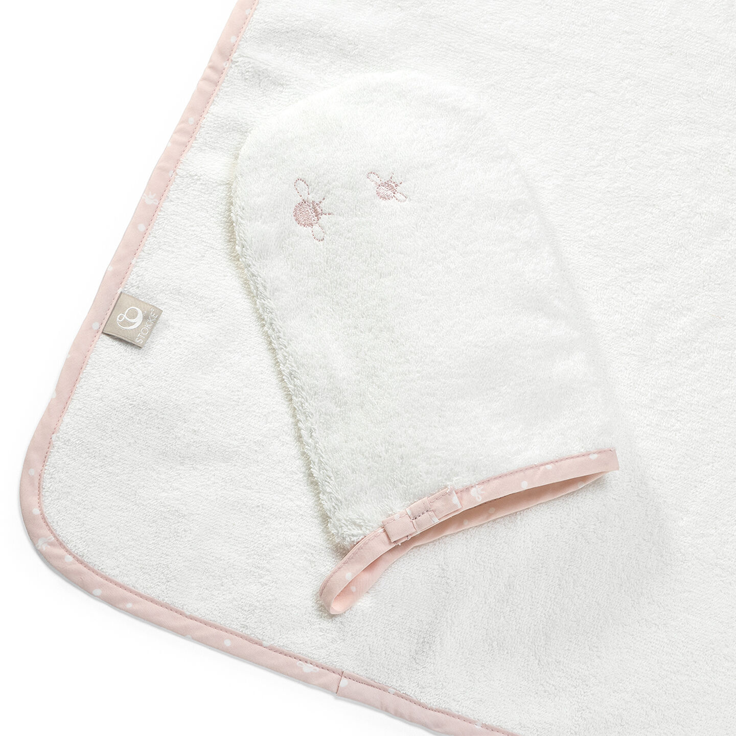 Hooded Towel Pink Bee