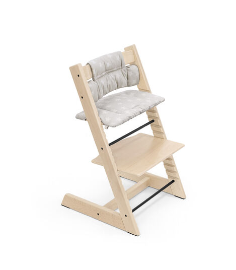 Tripp Trapp® Chair Natural with Classic Cushion Stars Silver. view 6
