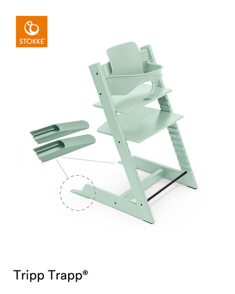 Tripp Trapp® Chair Aqua Blue, Beech, with Baby Set. view 5