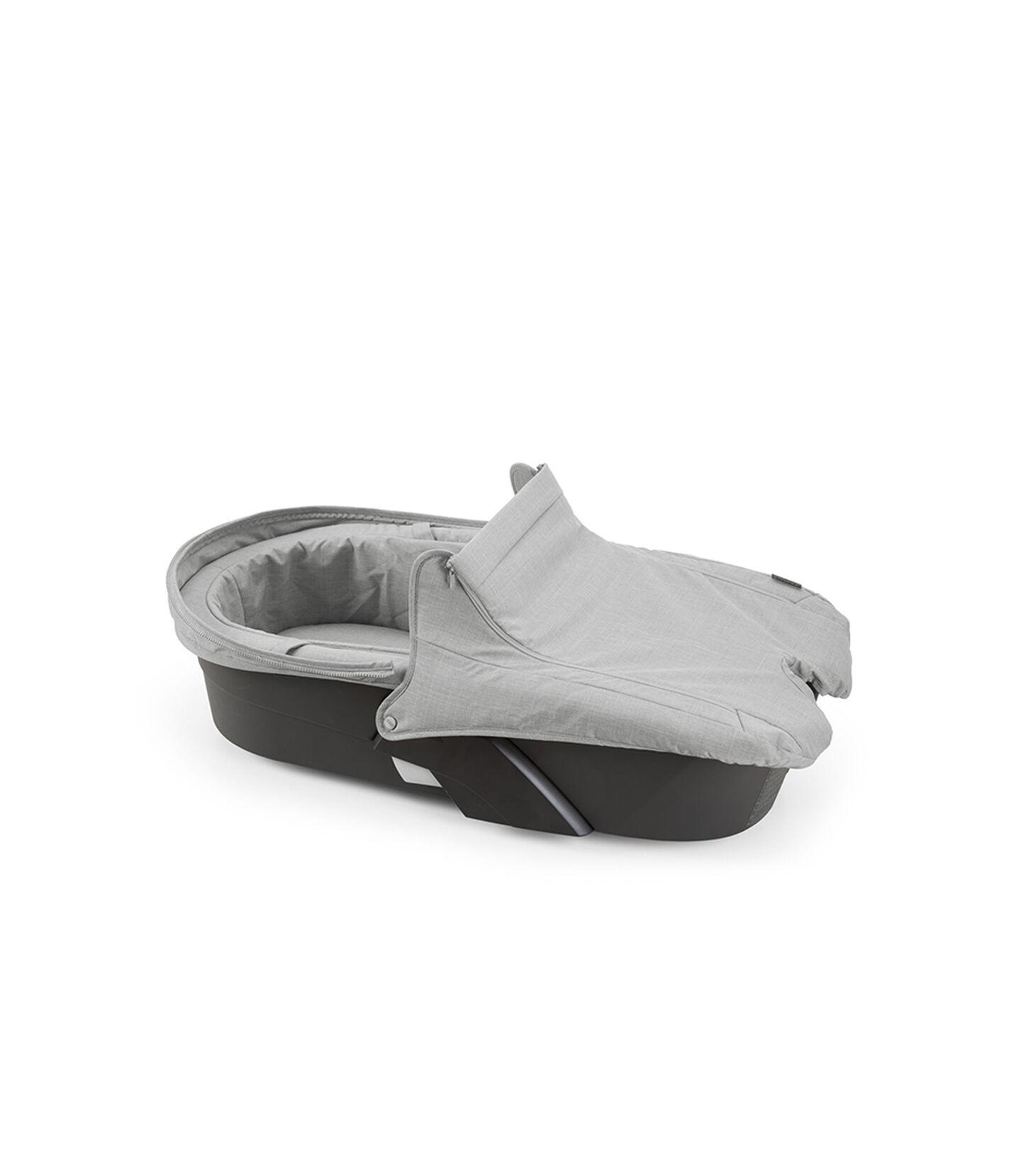 Stokke® Xplory® Carry Cot Cover Grey Melange, Gris Melange, mainview