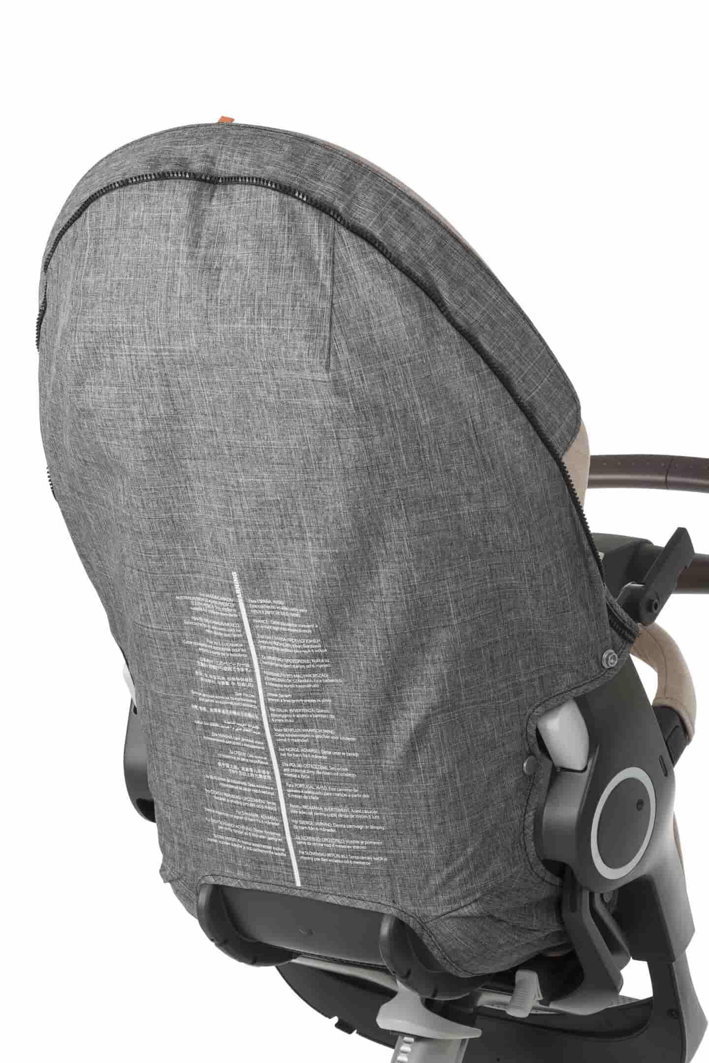 Stokke® Xplory® Couverture pour fauteuil arr. Noir Mélange, Noir mélange, mainview view 2