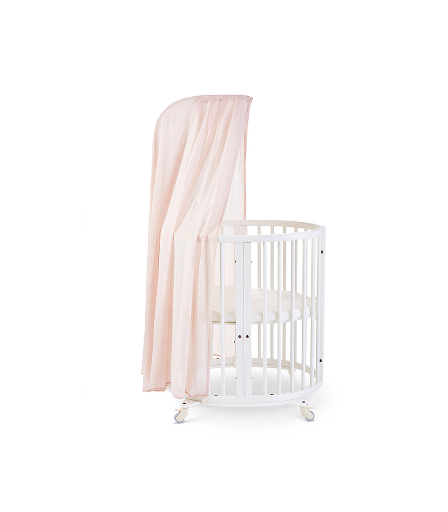 Stokke® Sleepi™ Mini, White. Canopy Pehr Blush. US only.