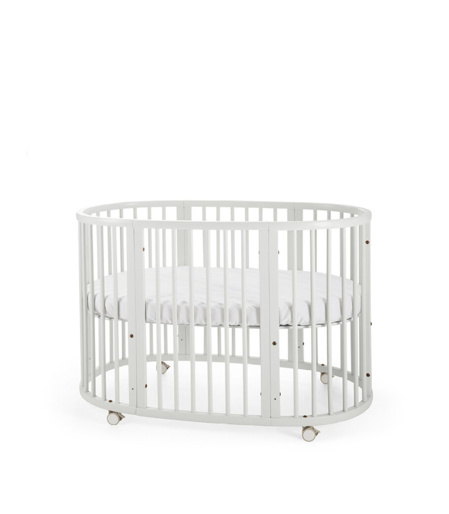 Stokke® Sleepi™ Bed. White. Mattress high. view 3