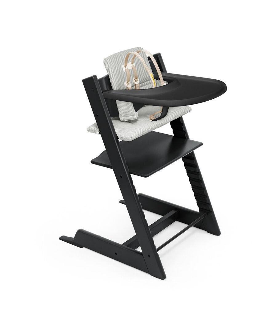 Tripp Trapp®, Black, Nordic Grey Cushion + Tray, mainview view 33