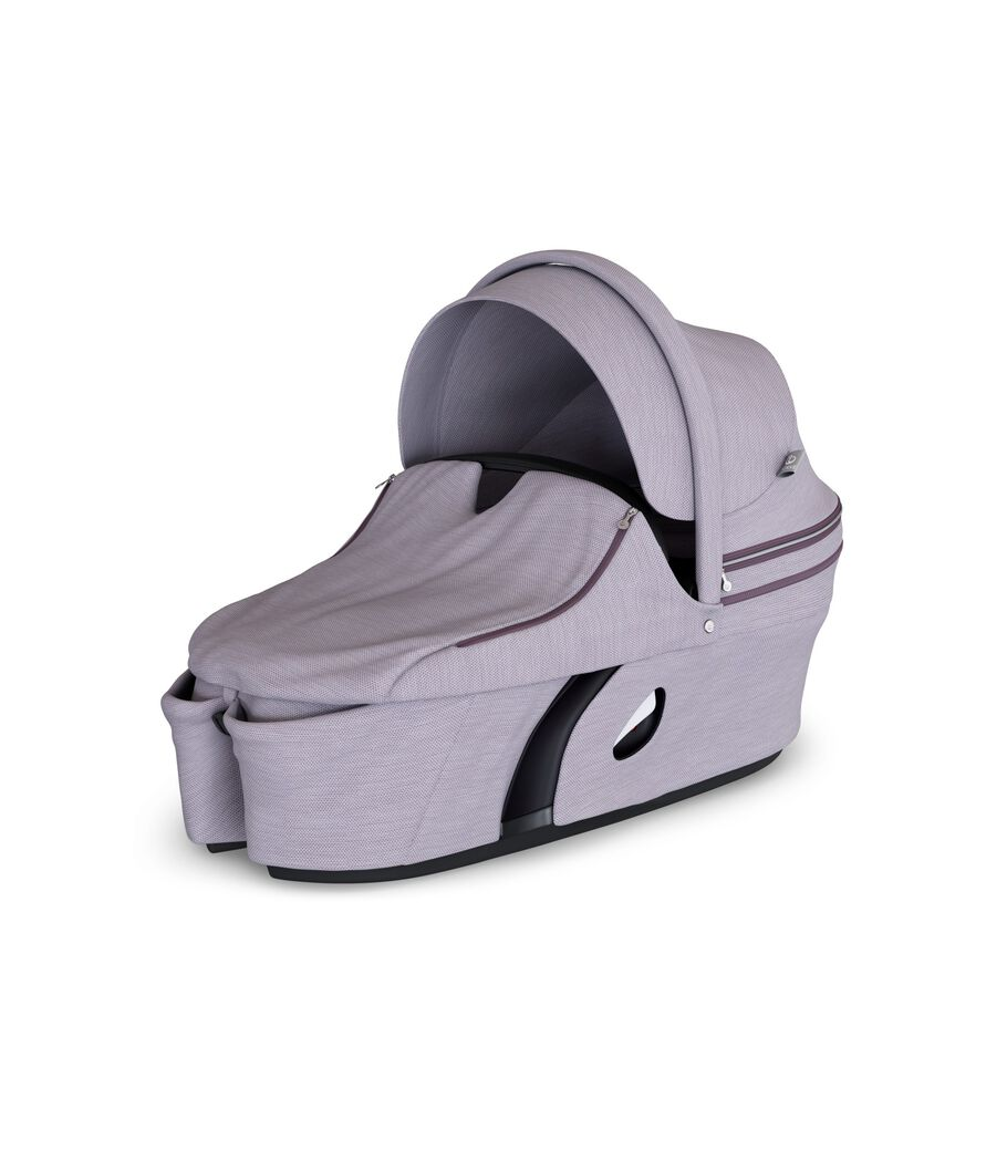 Stokke® Xplory® Carry Cot Brushed Lilac. With Storm Cover.