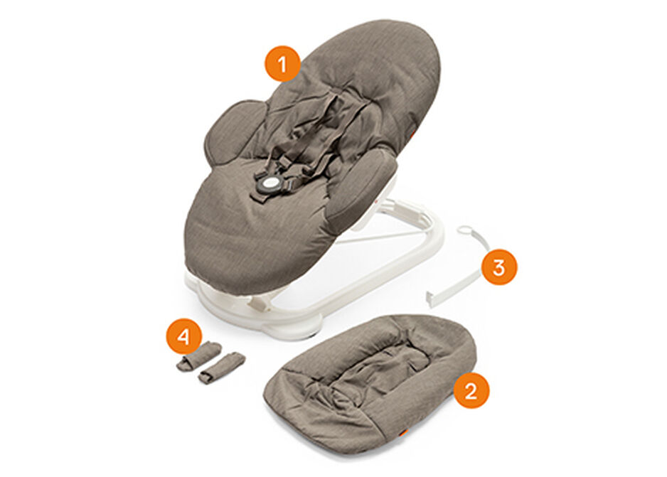 Stokke® Steps™ Bouncer. Items included.