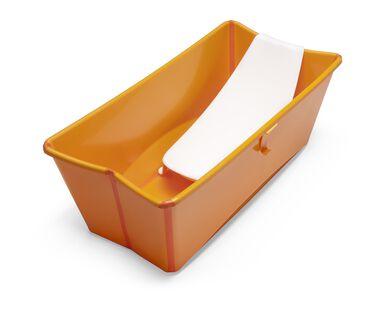 Bath tub, Orange. Asccessorised with Newborn Support.