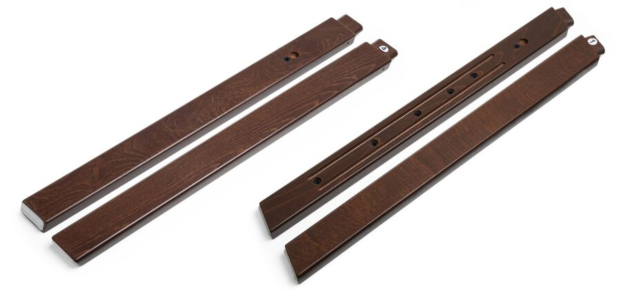 Stokke® Steps™ Wood leg set, Walnut Brown. Complete.