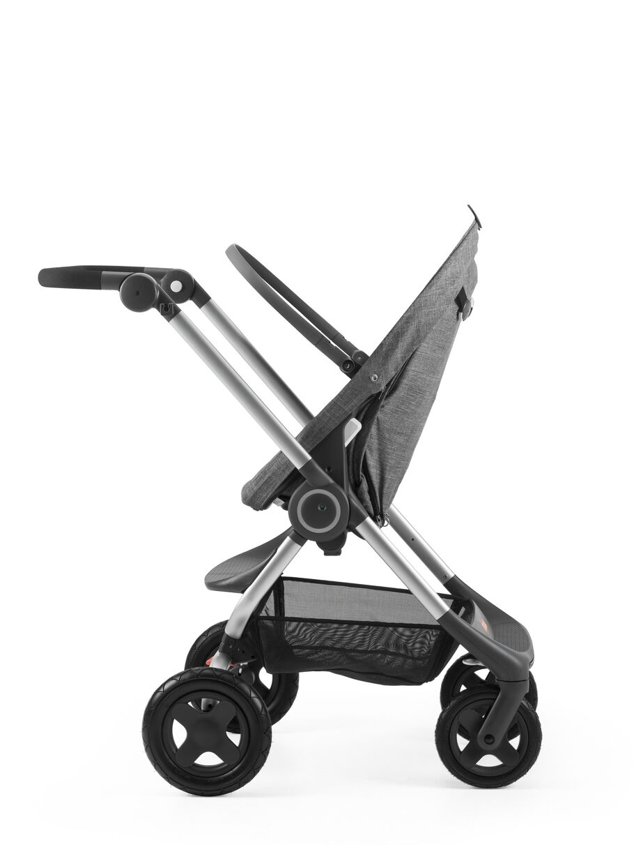 Stokke® Scoot™ Seat without Canopy, Black Melange.