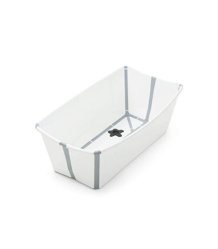 Stokke® Flexi Bath® bath tub, White Grey. Open. view 1