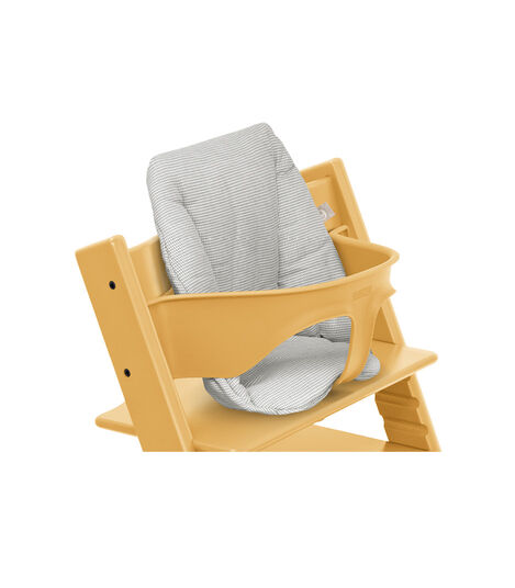Tripp Trapp® High Chair Sunflower Yellow with Baby Set and Baby Cushion Icon Grey. Detail. view 4