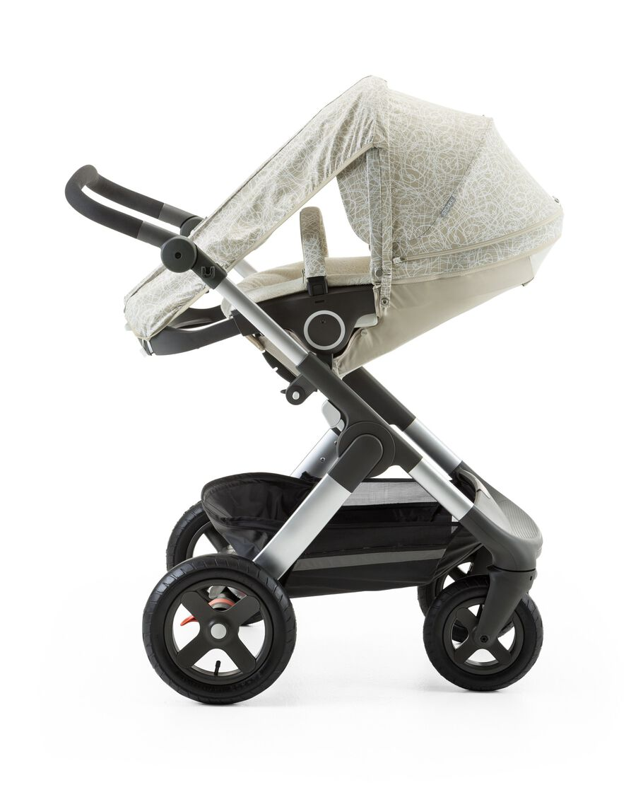 Stokke® Trailz™ with Stokke® Stroller Summer Kit Scribble Sandy Beige.