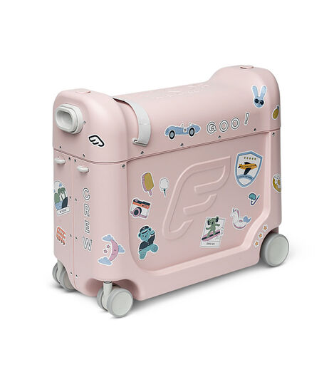 JetKids™ by Stokke® BedBox V3 in Pink Lemonade. Decorated with Stickers. view 10
