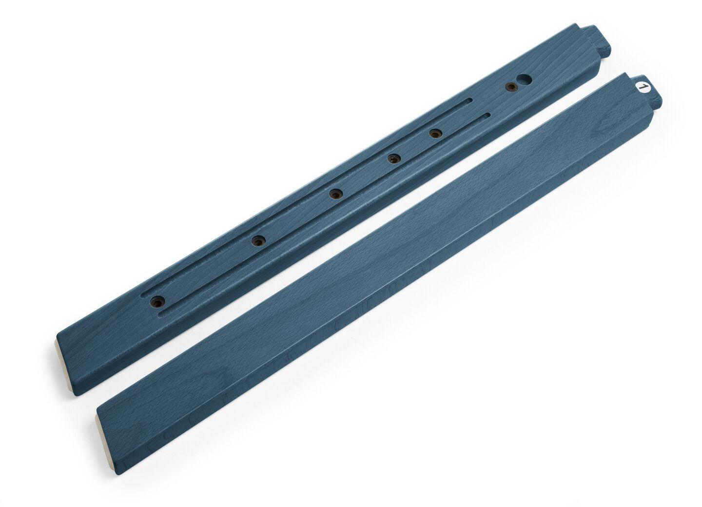 Stokke® Steps™ Wood leg set Front Midnight Blue. Sparepart.