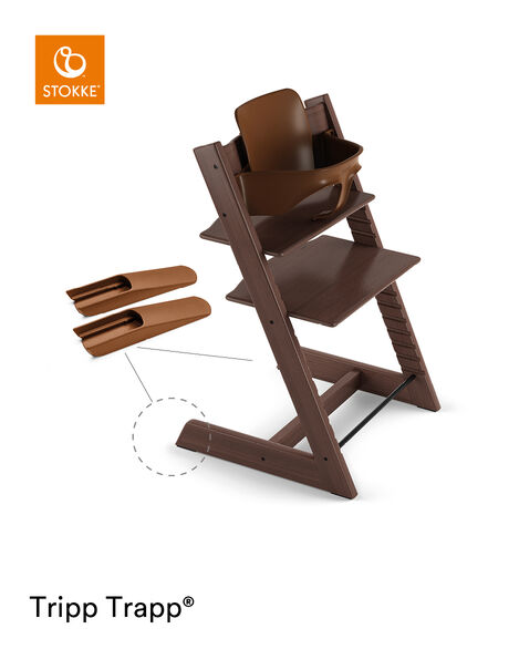 Tripp Trapp® Chair Walnut Brown, Beech, with Baby Set. view 4