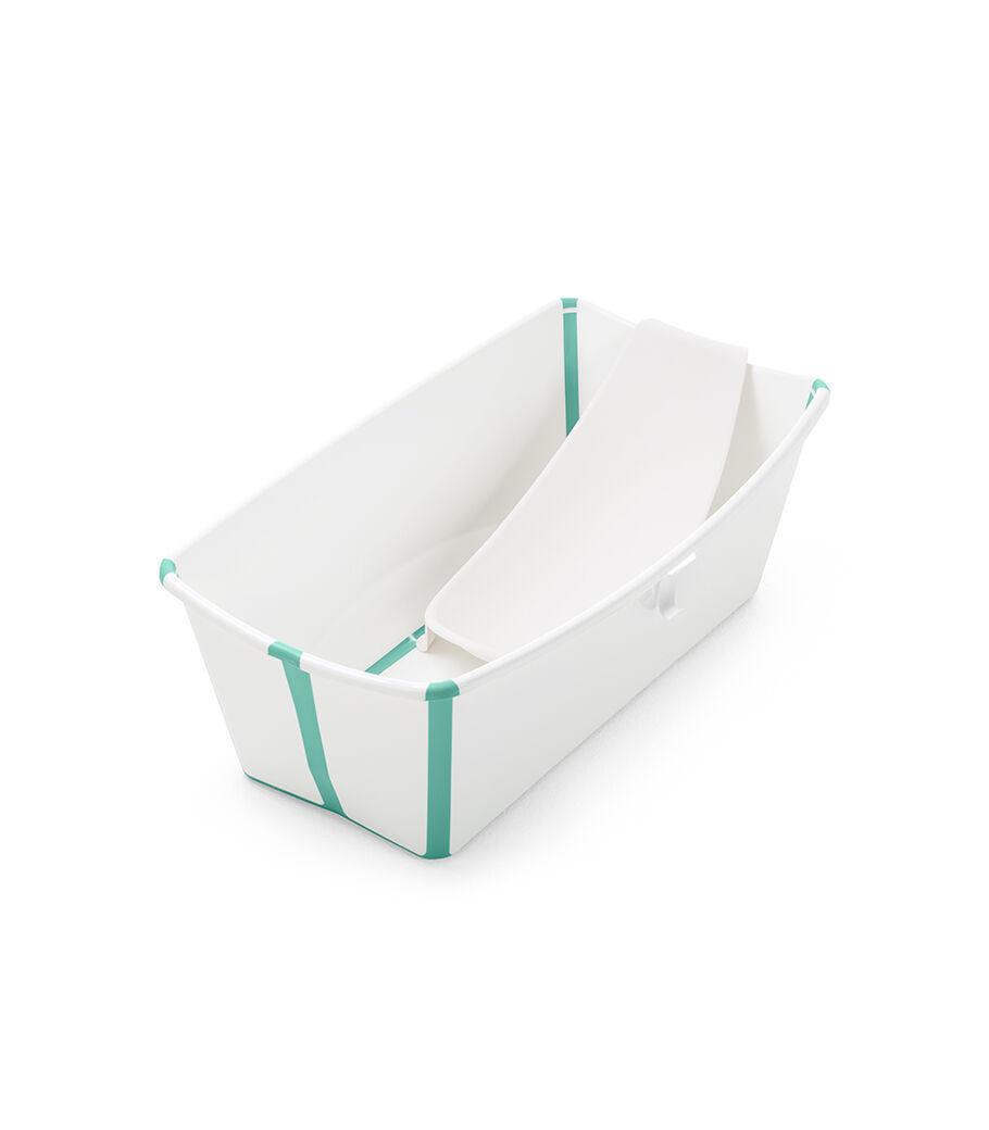 Stokke® Flexi Bath® bath tub, White Aqua with Newborn insert. view 12