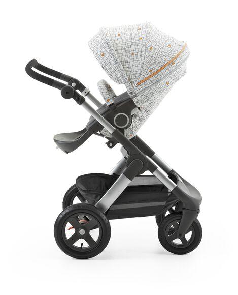 Stokke® Stroller Seat Style Kit Grid with Stokke® Trailz™ chassis, Black Melange.