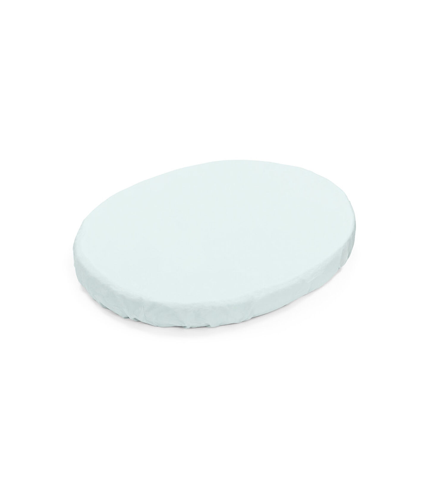 Stokke® Sleepi™ Mini Fitted Sheet. Powder Blue. view 1