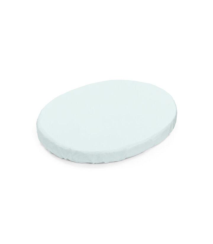 Stokke® Sleepi™ Mini Spannbettlaken, Powder Blue, mainview view 1
