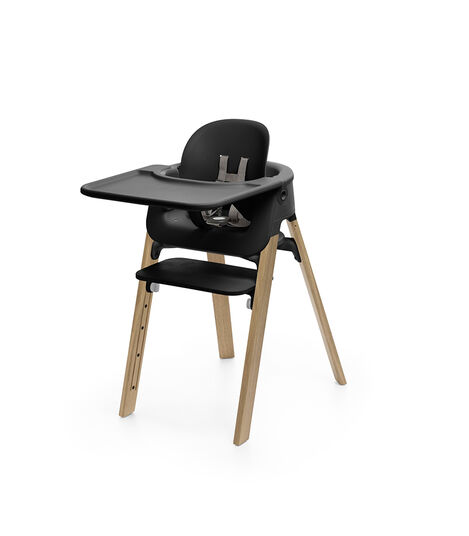 Accessories. Tray, Baby Set. Mounted on Stokke Steps highchair. view 2